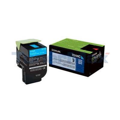 LEXMARK CS410 RP TONER CARTRIDGE CYAN 3K